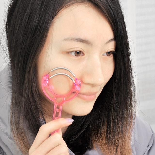 3071创意美妆挽面器双层弹簧脸部轻松去脸毛唇毛汗毛除毛器19g