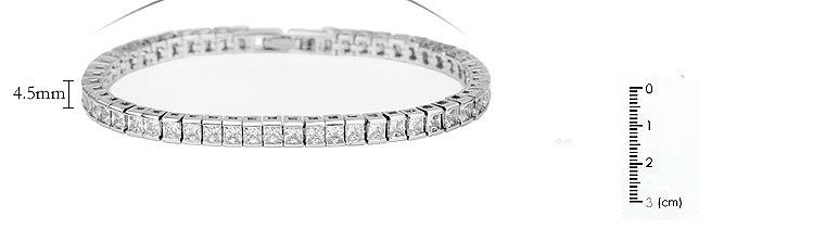 Bracelet zircon AAA incrust de cuivre de mode NHTM136958