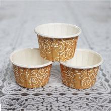 樂焙LBJK7540 蛋糕卷口圓形紙杯 耐高溫烘焙食品馬芬淋膜紙杯批發