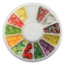 美甲用品 美甲饰品 水果条切片盒装 水果状 软陶水果条 指甲饰品