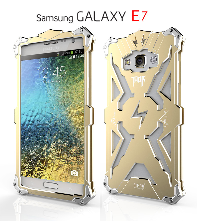 SIMON THOR Aviation Aluminum Alloy Shockproof Armor Metal Case Cover for Samsung Galaxy E7 E7000