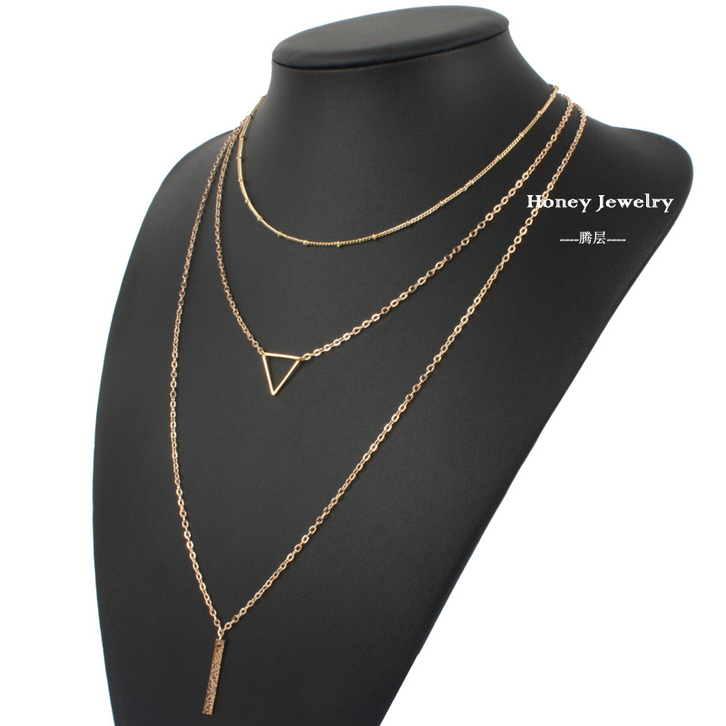 Occident and the United States Iron sheets plating necklace (Gold)NHCT0009-Gold