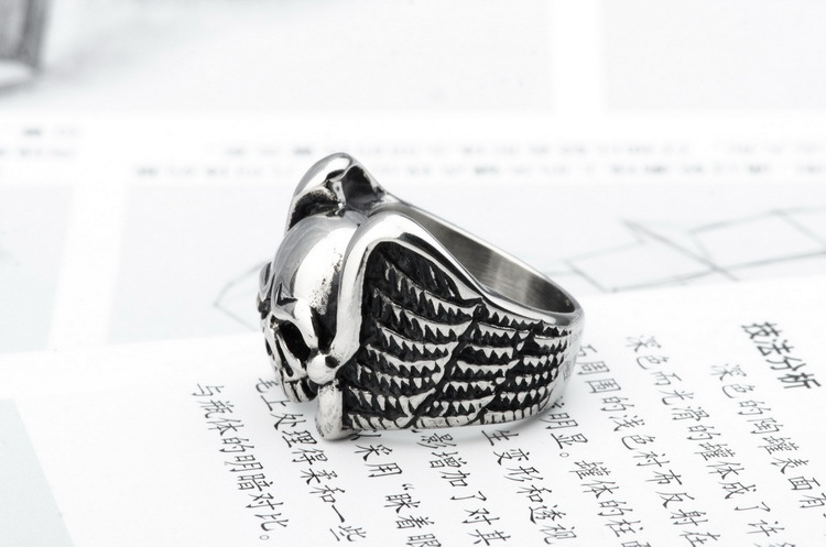 Fashion Titanium Stainless Steel Sculpture RingSkull head (The United States on the 13th)NHZH0371-The United States on the 13th
