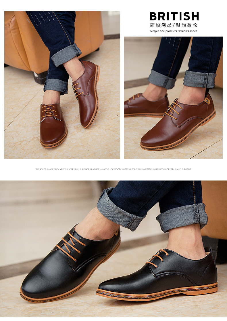 Details about NEW Fashion Men's European style oxfords leather Shoes Casual Shoes Larger size