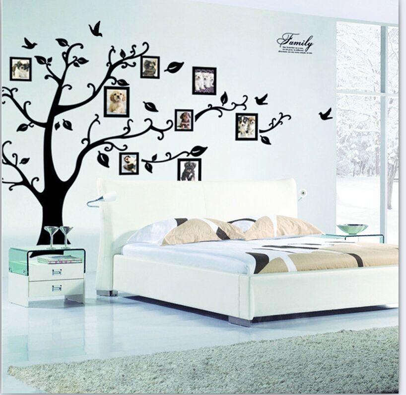 diy photo tree wall stickers creative photo frame 3d self adhesive