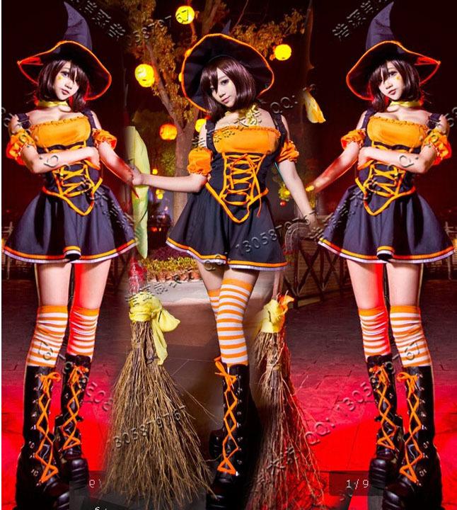 英雄联盟LOL 狂野女猎手豹女奈德丽万圣节女巫cosplay服装现货
