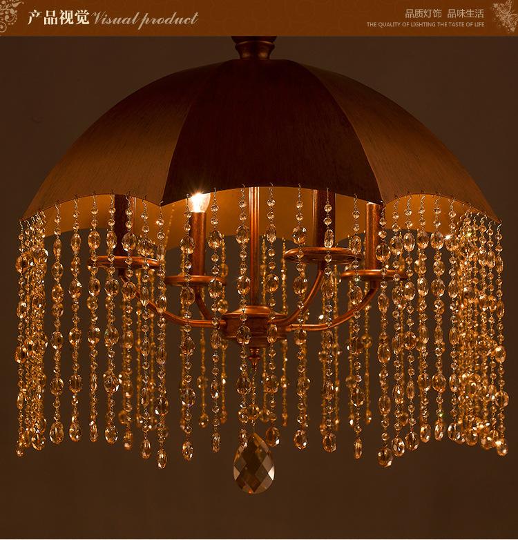 現代水晶吊燈_燈飾廠家批發簡約浪漫客廳臥室傘形