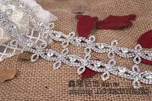 厂家定制高档奢华A级水钻码链密爪电镀DIY婚纱宴会服饰辅料异形钻