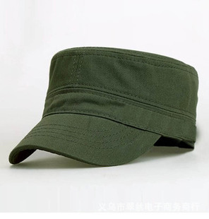 Hat men's flat cap simple monochrome military hat wholesale outdoor flat cap men and women single hat