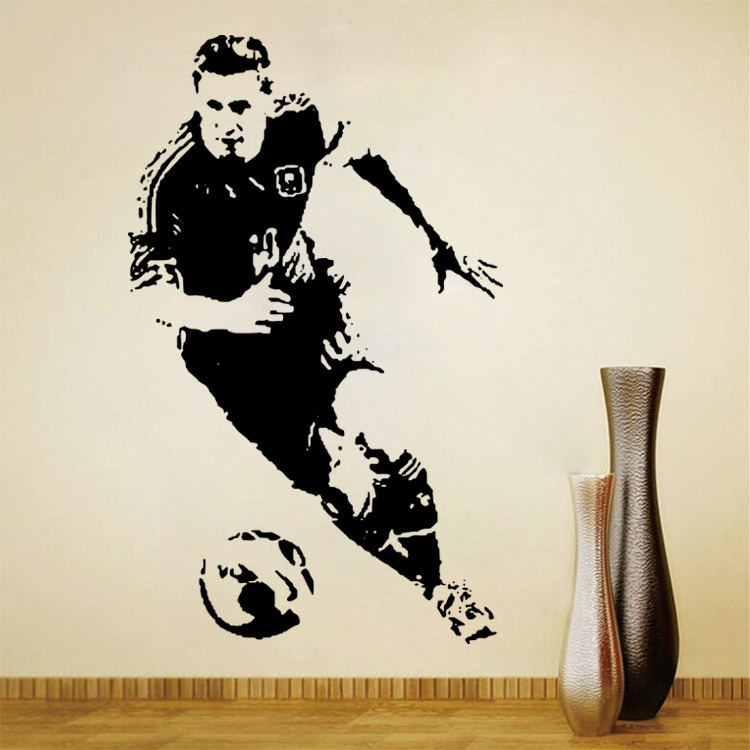 Football Player Wall Sticker Argentina Soccer Sport Athlete Wall
