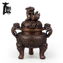 古铜都 纯铜香炉仿古大明宣德炉紫铜香薰炉香道佛具用品摆件