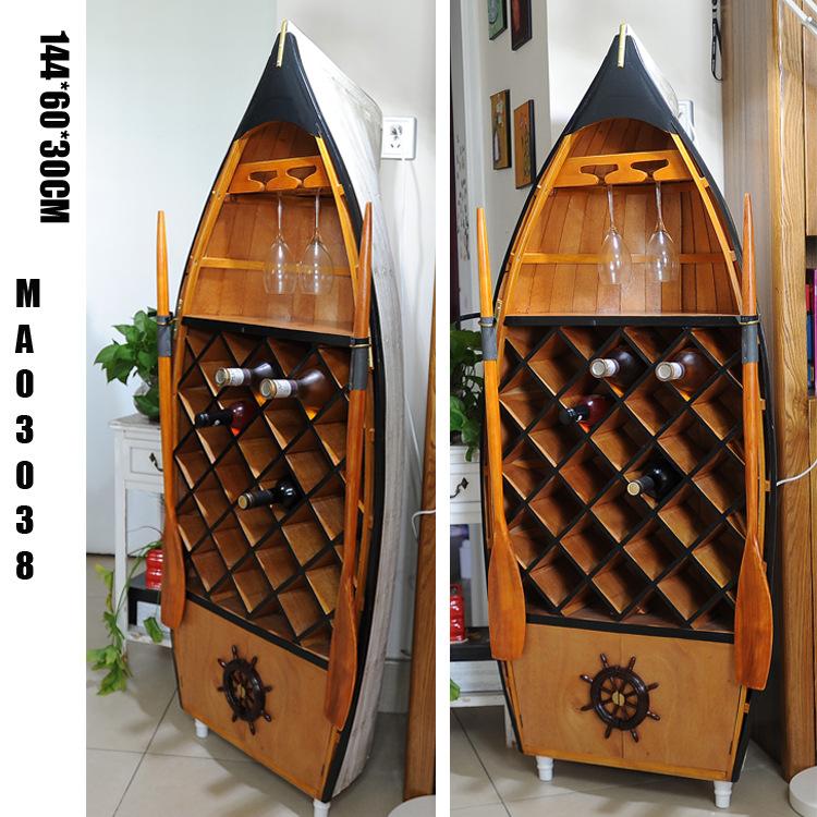 新品促銷 收納柜 船型儲物柜 地中海風格酒柜 一件代發MA03038