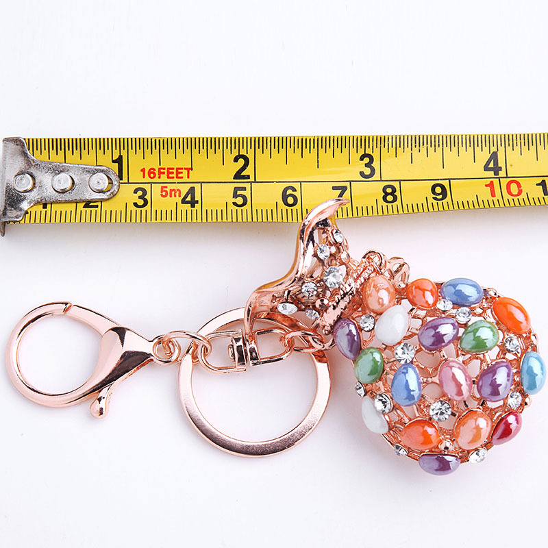 Rhinestone fashion exquisite small gift blessing bag car key chain purse metal gift ornaments NHMM176237