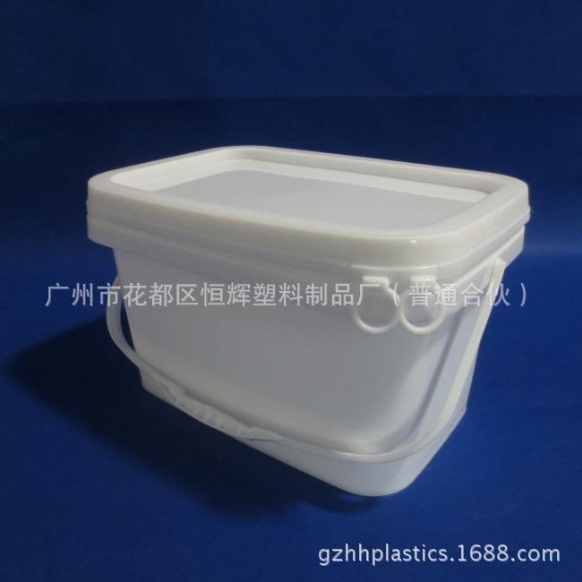 厂家供应5升长方形桶  洗?#36335;?#26742; 化工桶 可印刷 100%全新 现货批