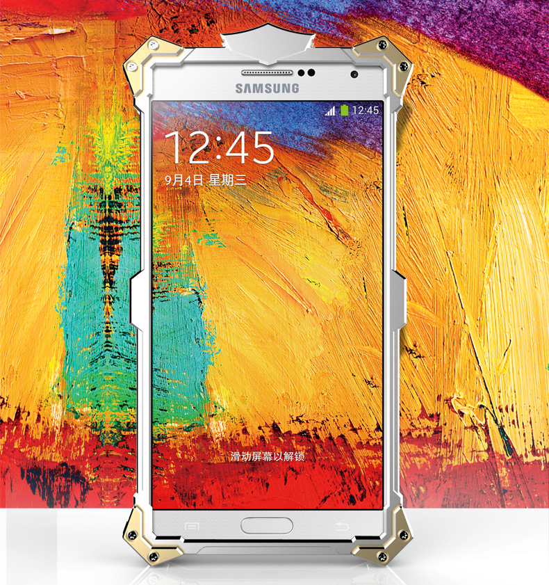 SIMON THOR Aviation Aluminum Alloy Shockproof Armor Metal Case Cover for Samsung Galaxy Note 3 N9000