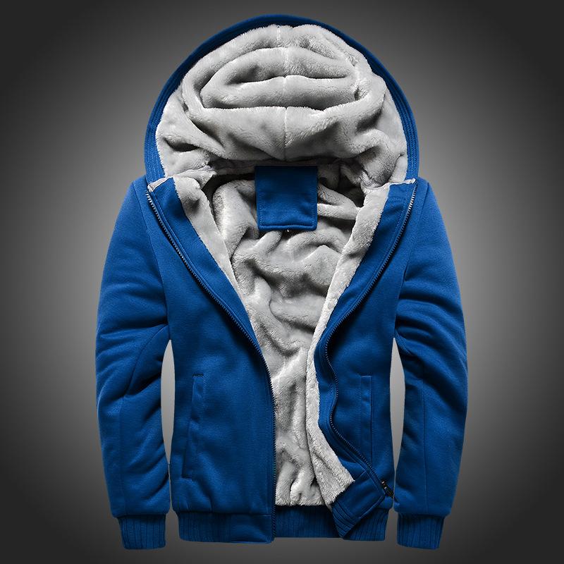 2017新款男式卫衣连帽秋冬装男棒球服男韩版运动加绒加厚男装外套