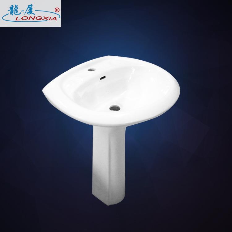 厂家直销 时尚简约陶瓷立柱盆 工程款打造平滑釉面洁具卫浴
