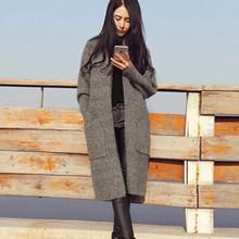 2019秋冬新款开衫女装毛衣外套韩版宽松百搭中长款女式针织衫