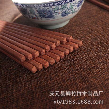 Bán buôn cánh gà tự nhiên đũa gỗ đũa gỗ đàn hương đỏ không sơn không sáp có thể được tùy chỉnh biểu tượng tùy chọn, đoạn 15 Đũa