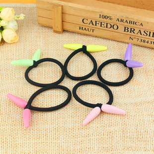 New style, European, American, Korean hair accessories, multicolor knotted hair rope, hair tie, chili pendant, head rope tie, rubber band