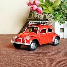 美国牛仔  甲壳虫车模 复古老爷车模型  创意摆件 8645三色