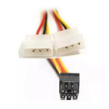 大口4PIN转6PIN 显卡外接电源线 PCI-E显卡 双大4P转6P电源转接线