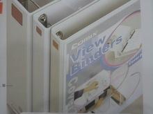 齐心 A216 易展示 美式三面插袋文件夹 A4 2寸3孔D型夹