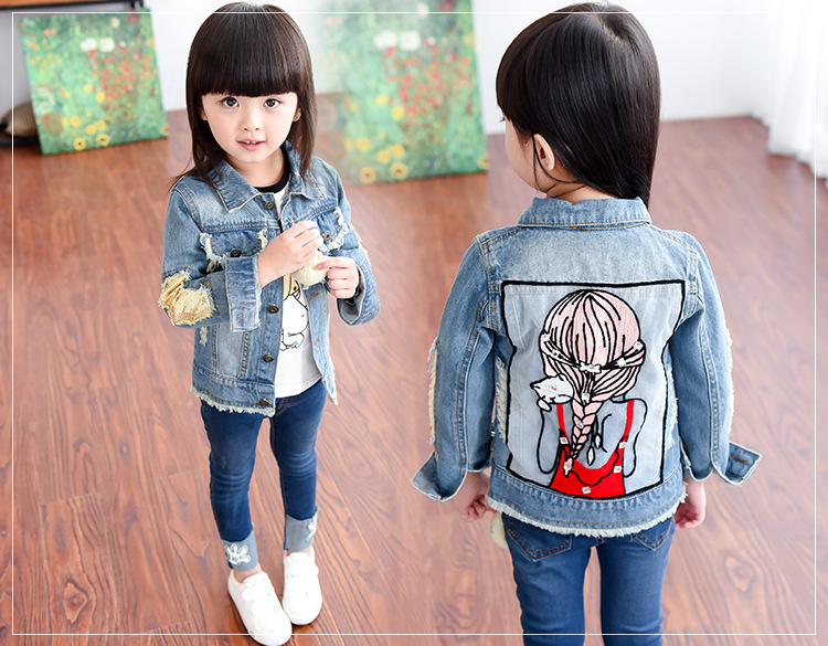 ad13acd11 Detail Feedback Questions about Brand Baby Girls Hole Denim Jackets ...
