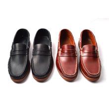 tb正品真皮套?#27431;?#33337;鞋牛皮手工缝制英伦潮鞋低帮鞋男鞋25078