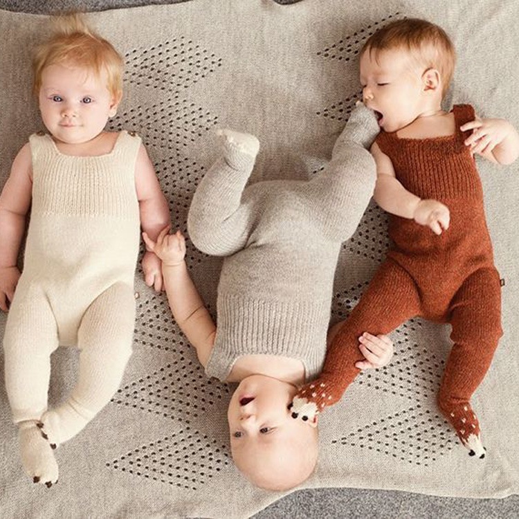 c10ae7d47 baby knitting romper autumn new style soft newborn baby boys girls  one-pieces woolen jumpsuit cute pajamas baby clothes