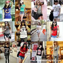 庫存服裝 夏季2元地攤貨批發網 外貿女式短袖T恤韓版女裝打底衫