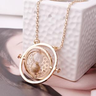 360 Harry Potter Time Converter Hourglass Necklace Horcrux Time-Turner Turner Necklace