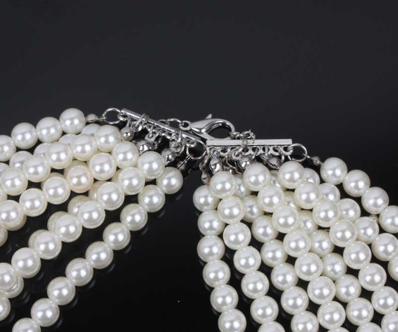 Occident and the United States pearlnecklace (creamy-white)NHCT0033-creamy-white