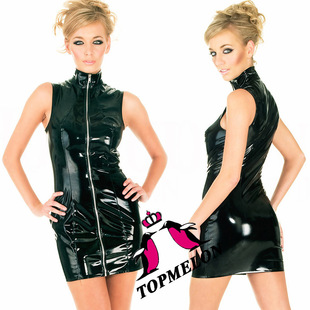 2015 Topmelon new design elastic leather European and American fashion cat suit P821