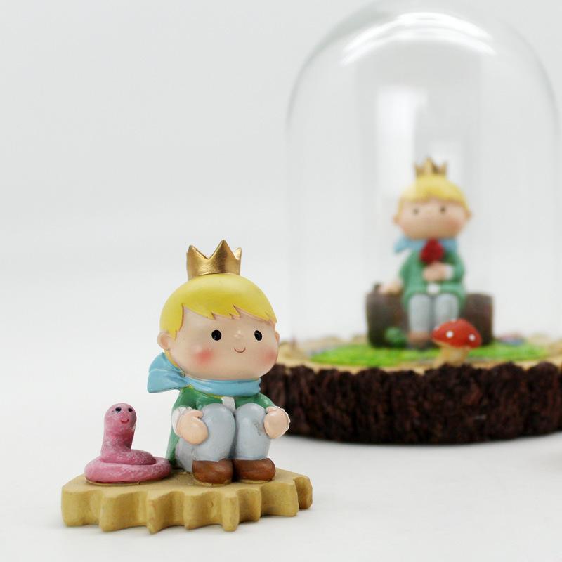 如果原创卡通小王子树脂摆件创意蛋糕装饰品工艺品汽车摆件批发