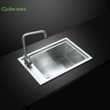 6043不锈钢手工水槽 手工拉丝厨房洗碗洗菜盆 304不锈钢单槽水槽