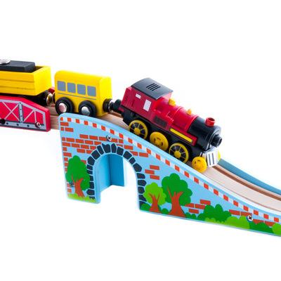 加拿大ACOOL玩具托马斯木质火车轨道配件可拆卸吊桥
