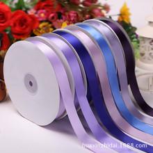 2.5cm 色丁织带单面涤纶带 丝带织带 服饰节日装饰 DIY纺织辅料