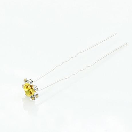 Nĩa hoa hồng rhinestone nhỏ Bím tóc nhỏ xinh xinh
