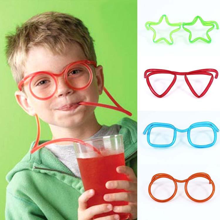 趣味搞怪 儿童眼镜吸管 眼睛吸管 创意艺术 DIY 造型吸管批发