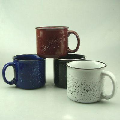 反古做旧仿搪瓷杯 陶瓷马克杯 大容量喷釉创意 早餐牛奶杯批发
