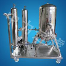 供應 不銹鋼可配移動小車組合式過濾器 二級三級過濾器 雙聯袋式