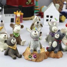 创意礼品家居摆件仰望天空小动物微景观道具zakka摆件树脂工艺品