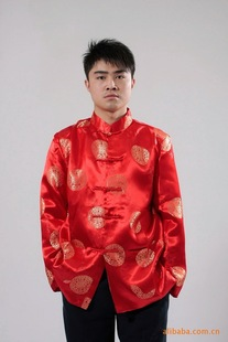 Tang suit male spring and autumn middle-aged and elderly coat Chinese style Chinese men's clothing festival photo dress long-sleeved shirt