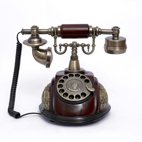 至臻厂家直销欧式老式复古家用办公电话座机转盘礼品116