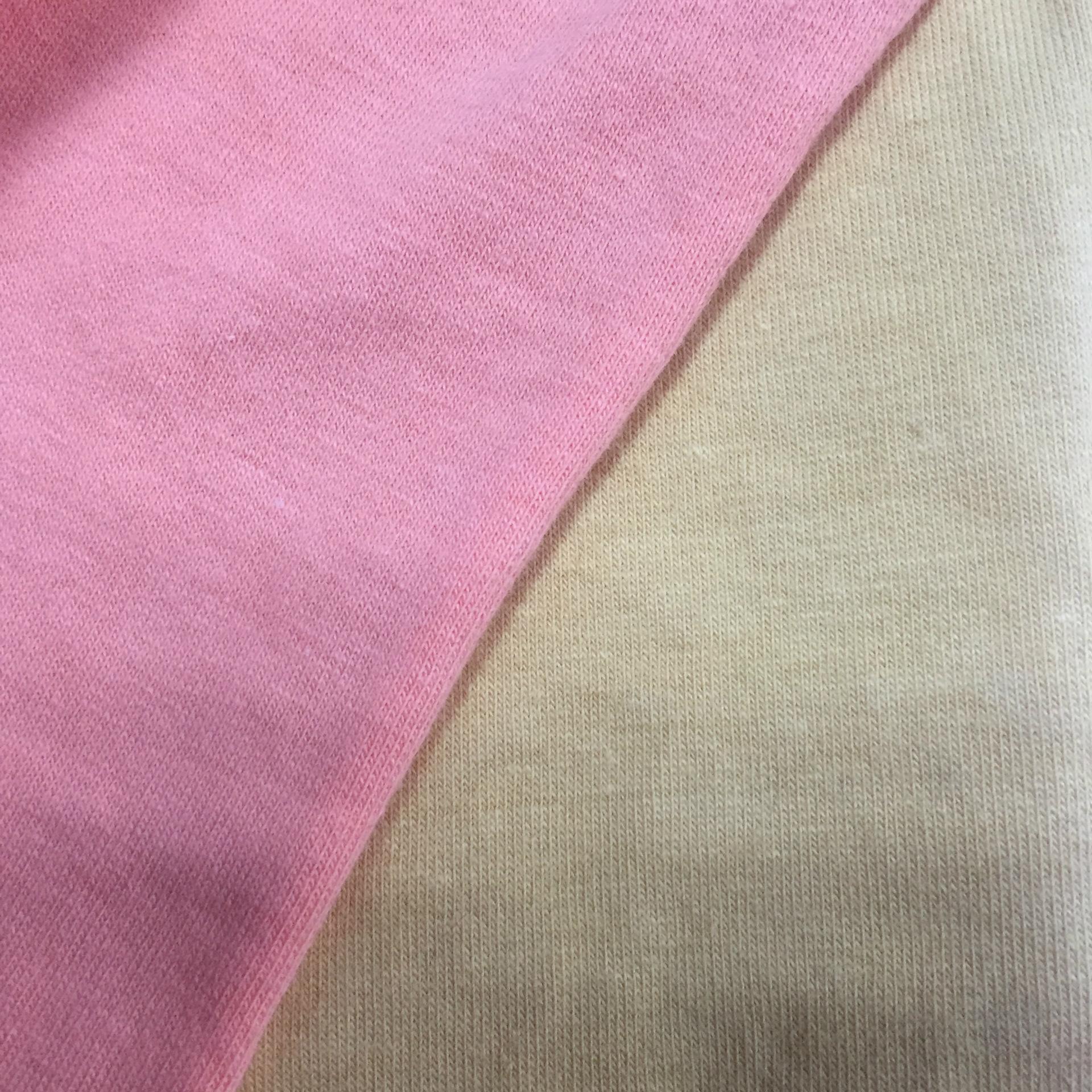 织布厂家 纯棉拉架40S+30D食毛精梳汗布高品质面料 奥代尔手感