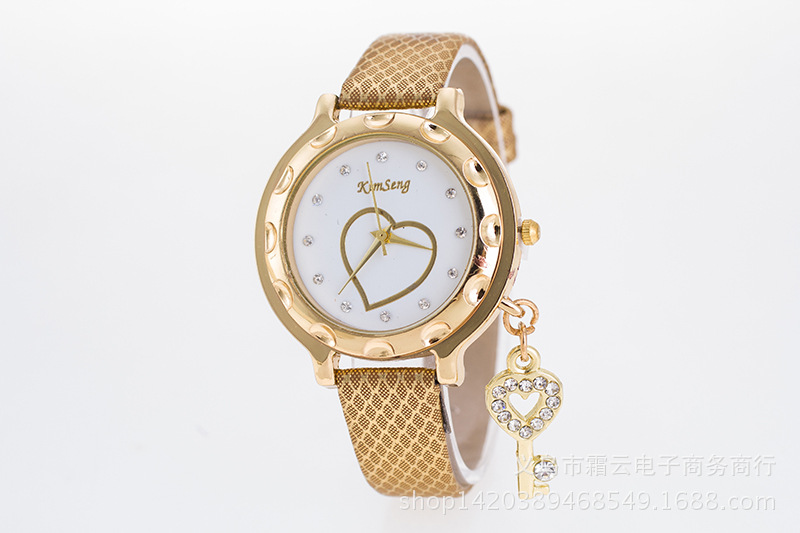Pop Heart Key Decoration Pendant Ladies Watch NHSY143373