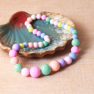 Korean version of fashion children's plastic jewelry jewelry spring color necklace candy color jewelry girl bracelet