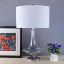 时尚创意飞碟清光玻璃台灯价格 美式个性玻璃装饰床头客厅灯具