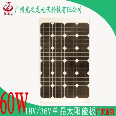 60W18V单晶太阳能板太阳能电池板光伏发电540x990太阳能板
